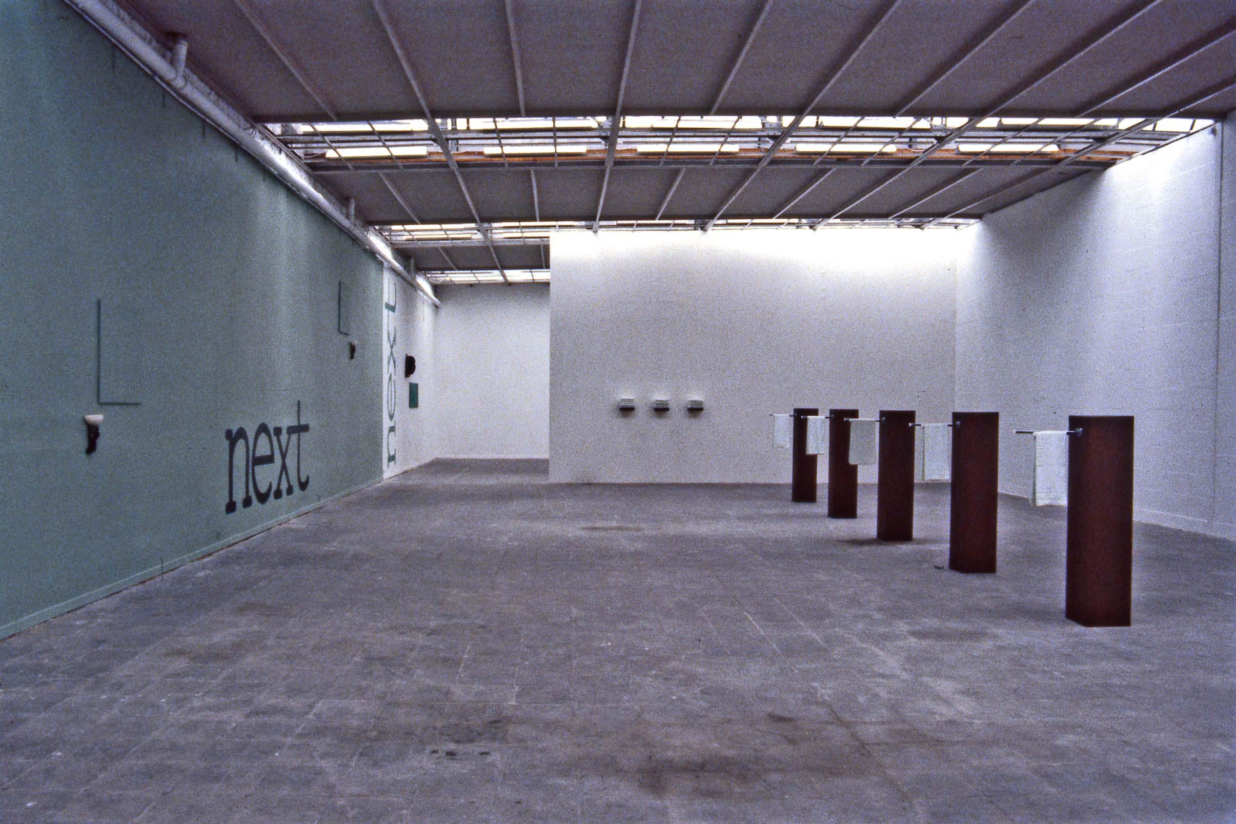 'WHEN ATTITUDES BECOME SALES' De Lege Ruimte  Bruges  Belgium 1989 Installation view