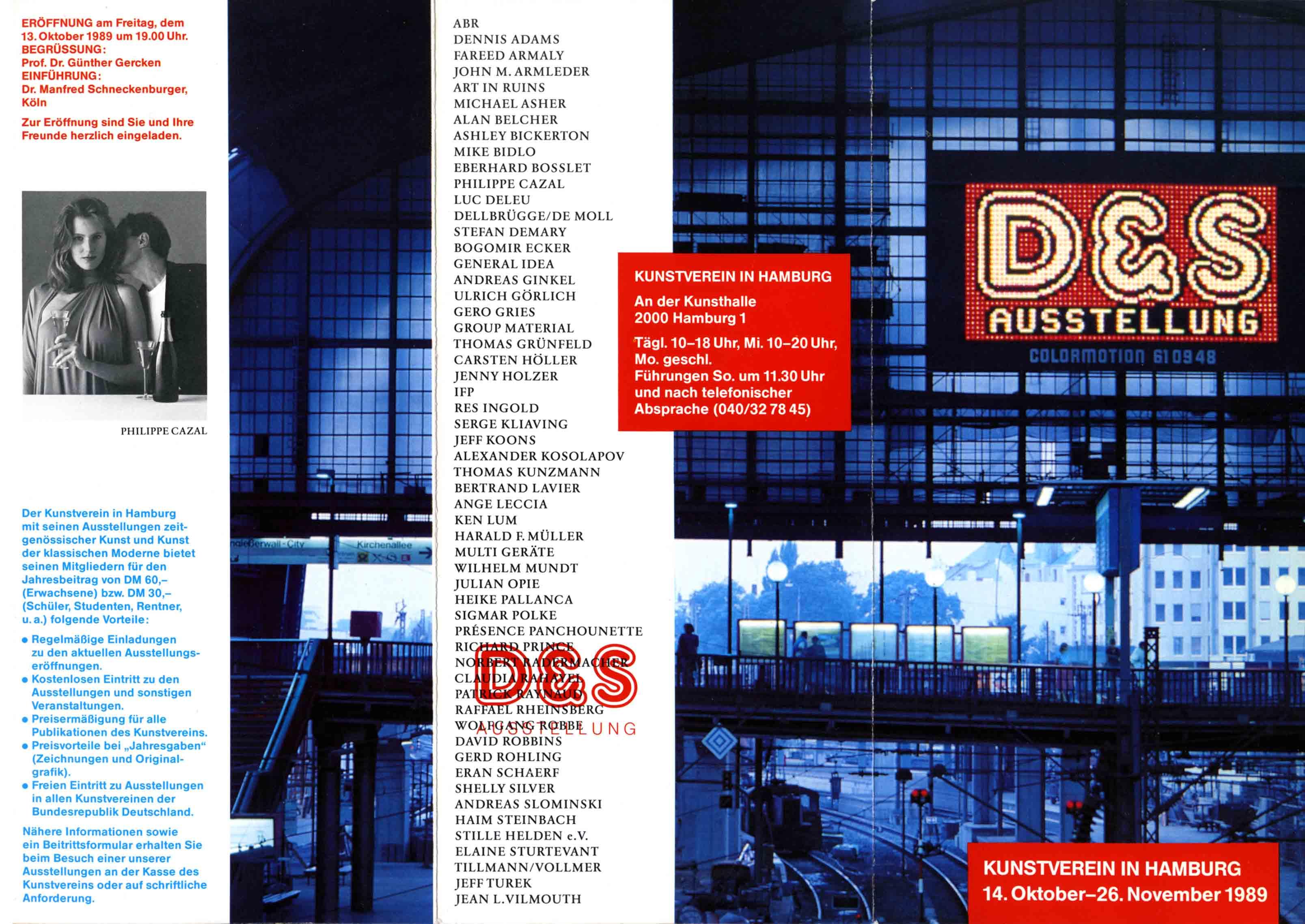 'D & S AUSTELLUNG' Kunstverein/Kunsthaus Hamburg 1989 Flyer