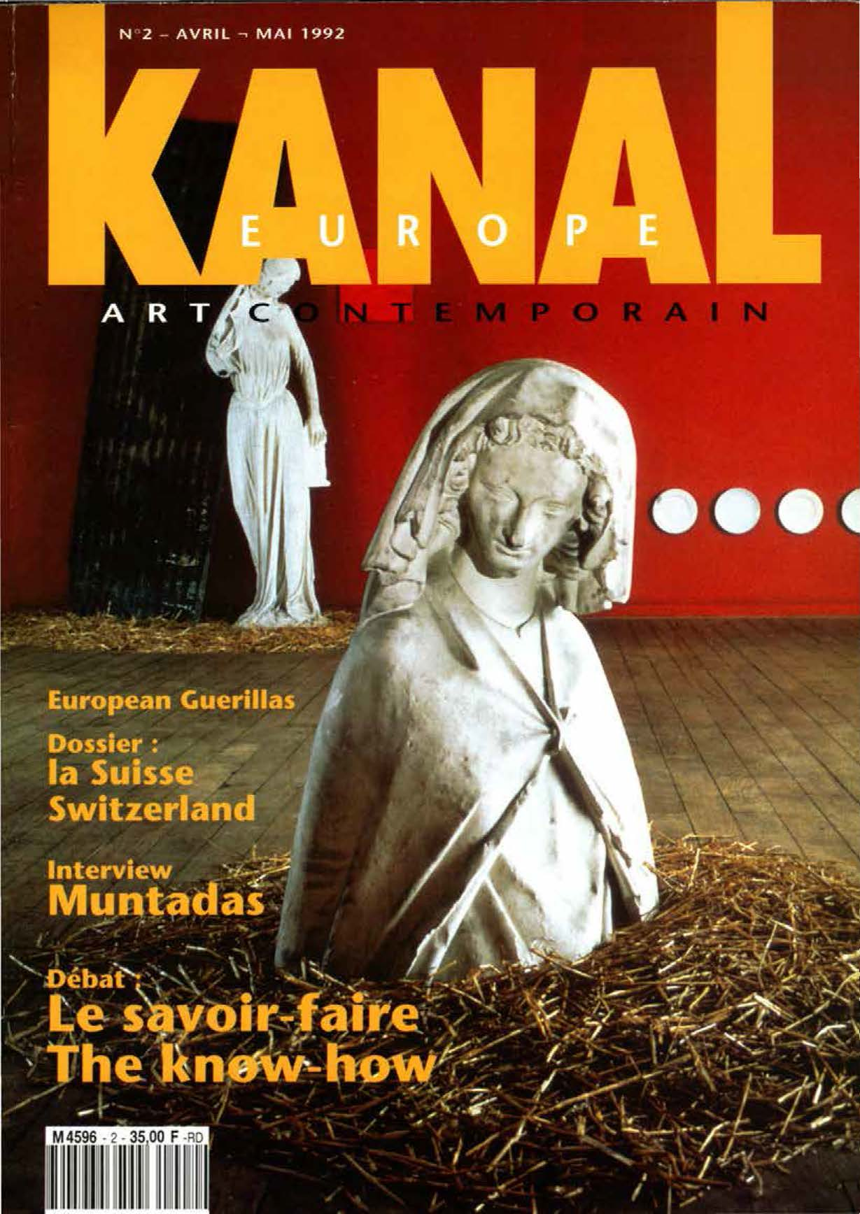 'EUROPEAN GUERRILLAS'   Cover Article by Frank Perrin Kanal Europe  No 2  April/May 1992 pdf download