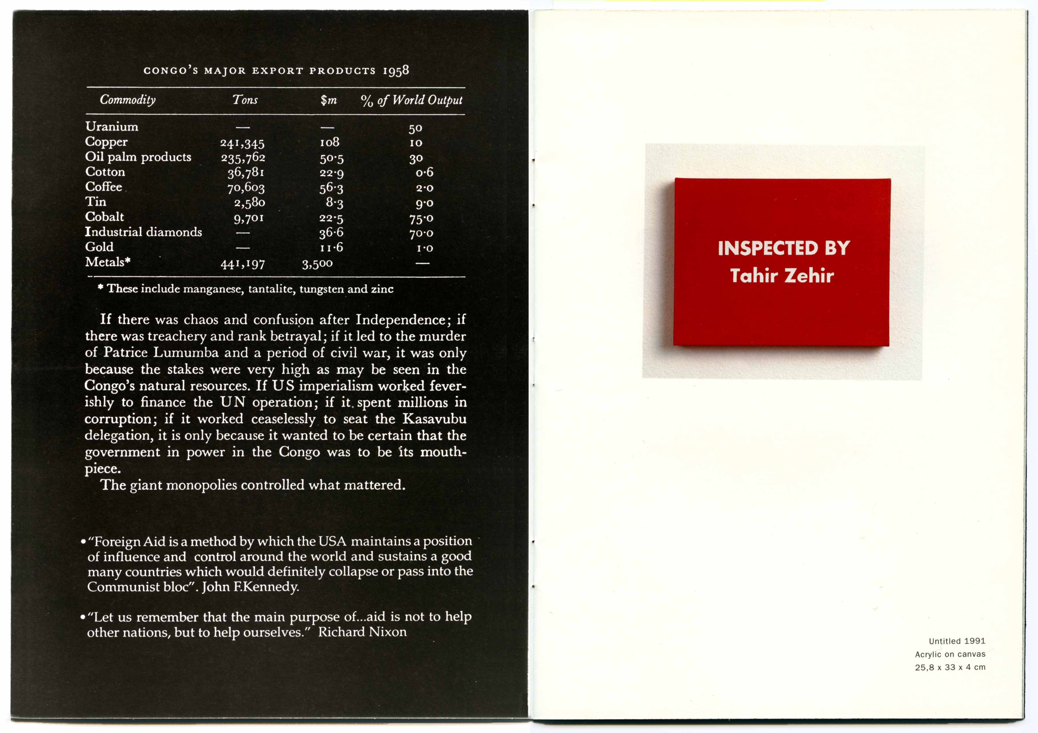 CONCEPTUAL DEBT  Art in Ruins Catalogue pages Gemeentemuseum  Arnhem  Holland  daadgalerie  Berlin Vestjaellands Kunstmuseum  Denmark Galerie Luciano Inga-Pin  Milan. 1992-93