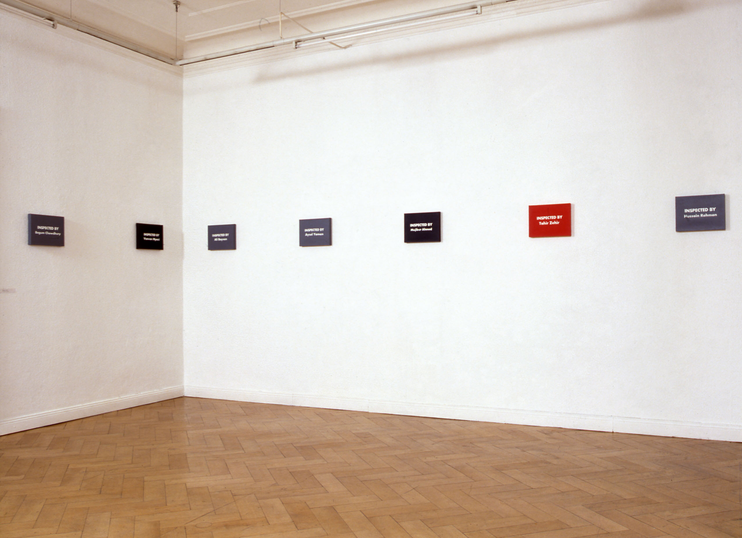 UNTITLED Art in Ruins Installation view  CONCEPTUAL DEBT daad galerie, Berlin 1992