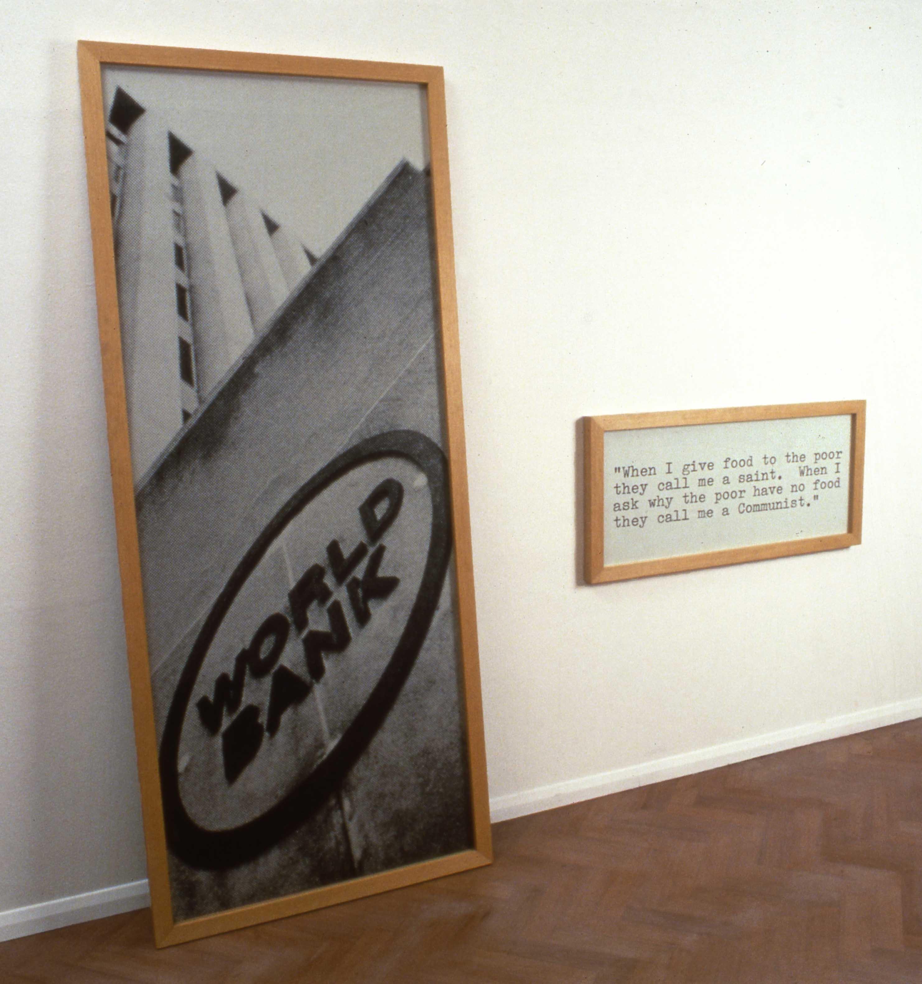 'STRUCTURAL ADJUSTMENT' 1991 Framed photographs 213 x 210cm
