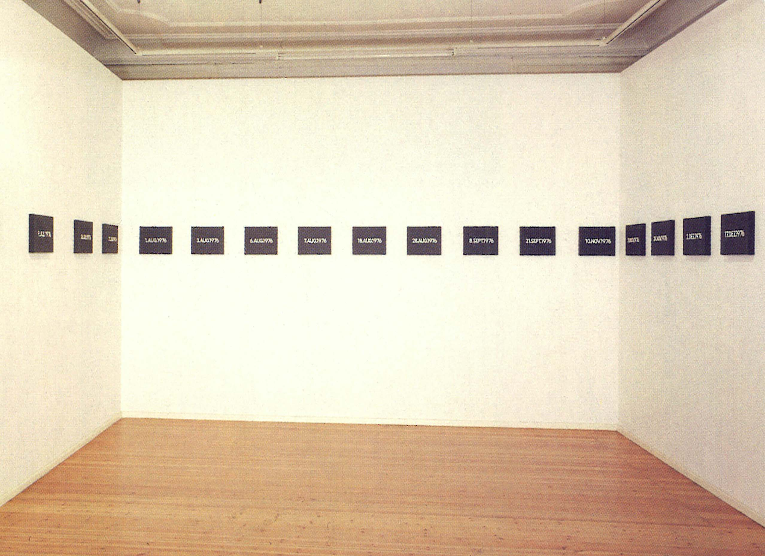 ON KAWARA Installation view daad galerie, Berlin 1987