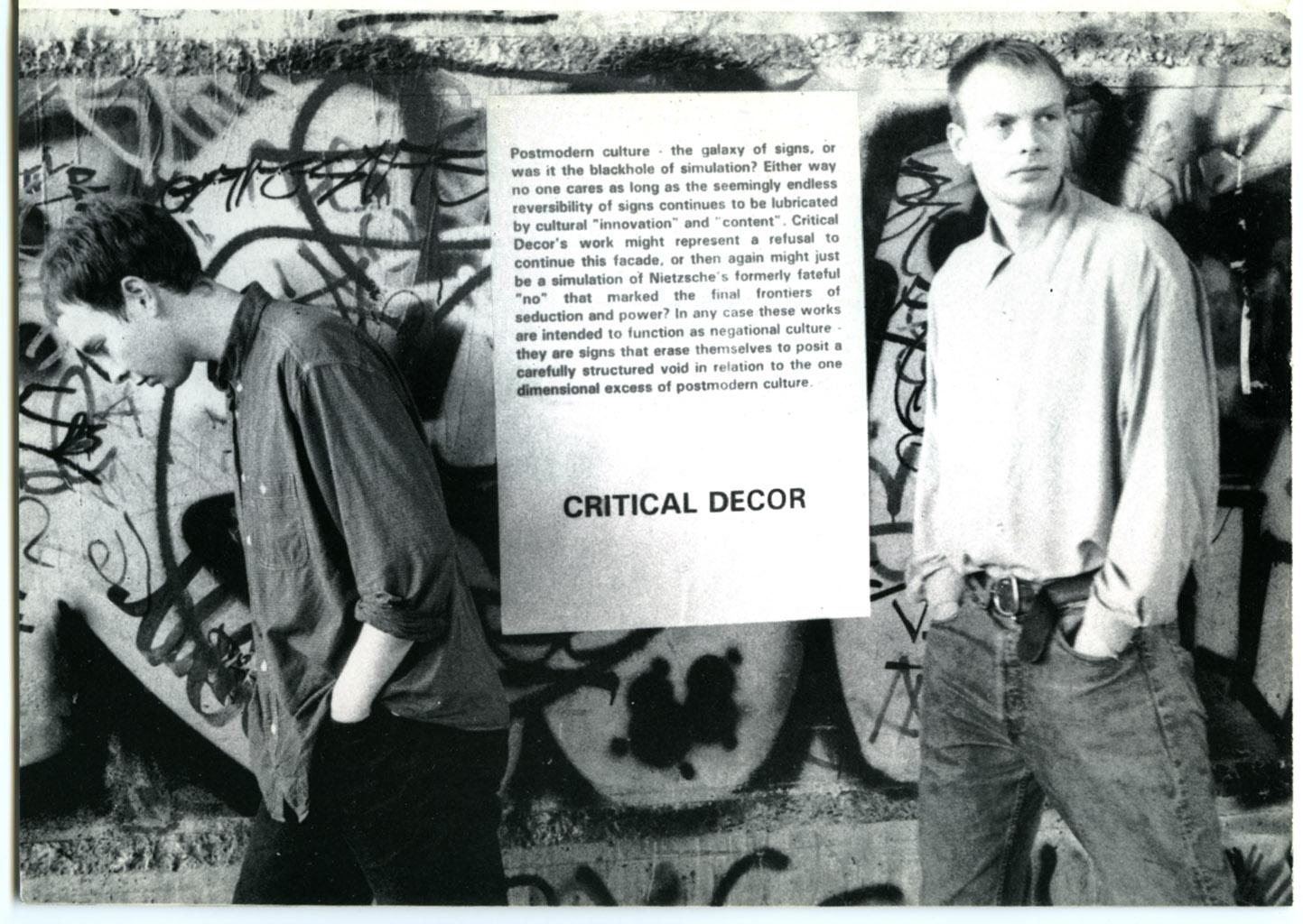 Recent History Brochure: Critical Decor