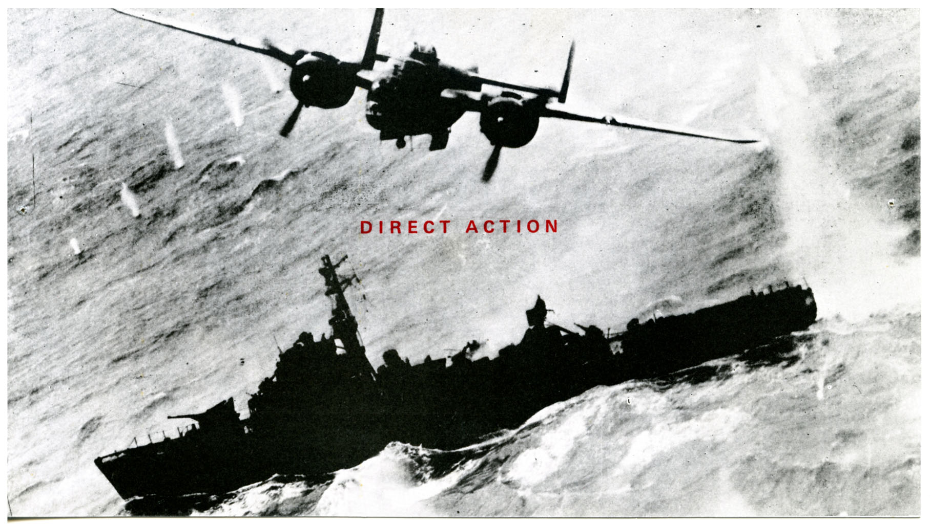 Direct Action. Invitation Card_Front. Work from Common Knowledge. Kingston Polytechnic 1984