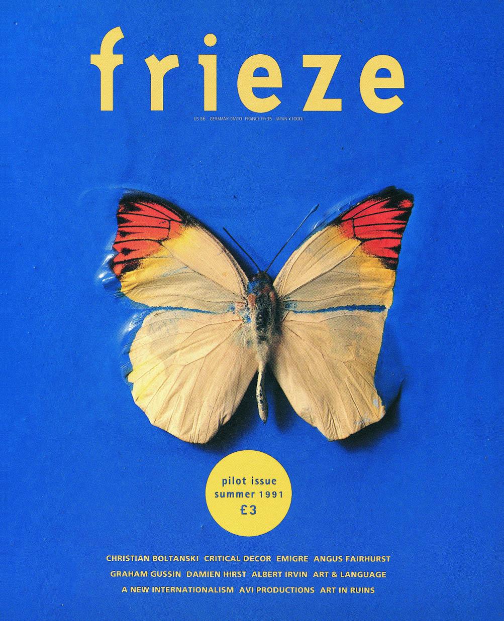 Frieze Pilot Issue Summer 1991 Cover