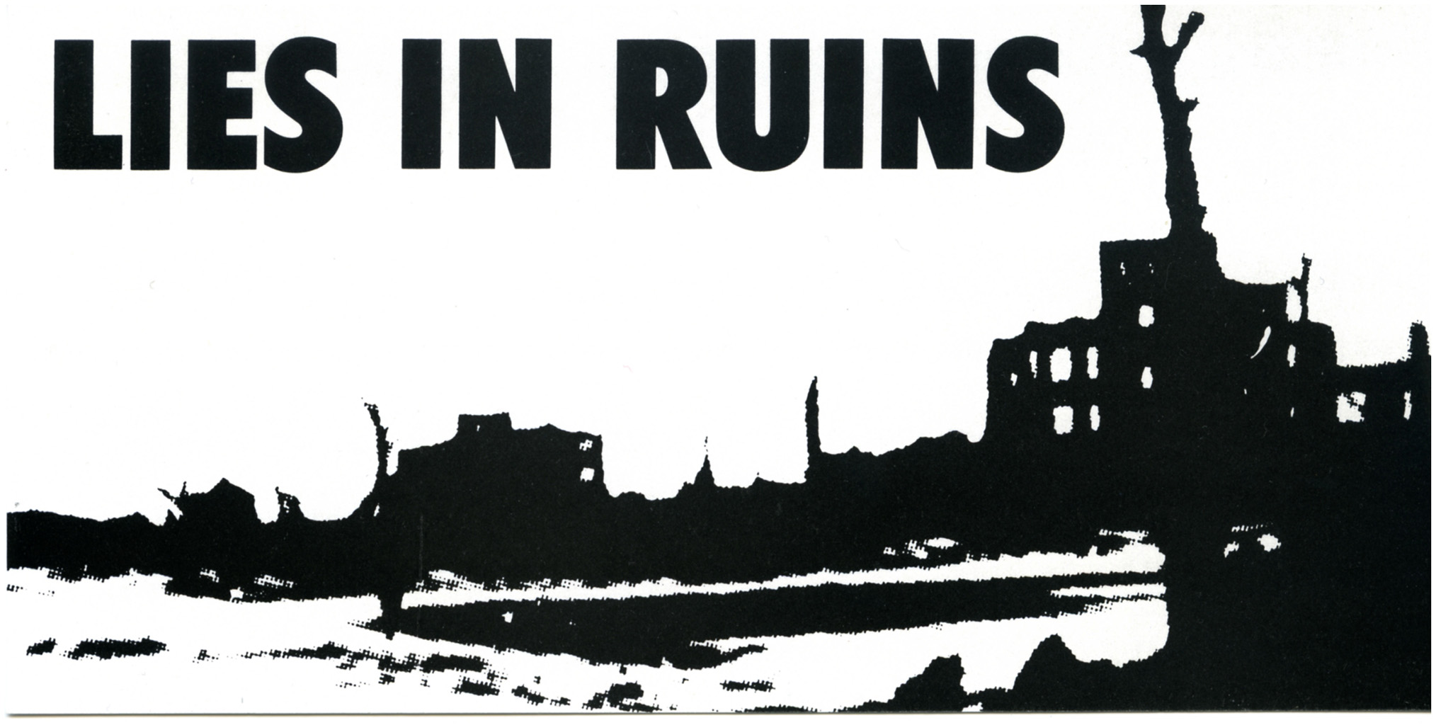 Lies in Ruins Institute of Contemporary Arts  London 1986 Invitation Card