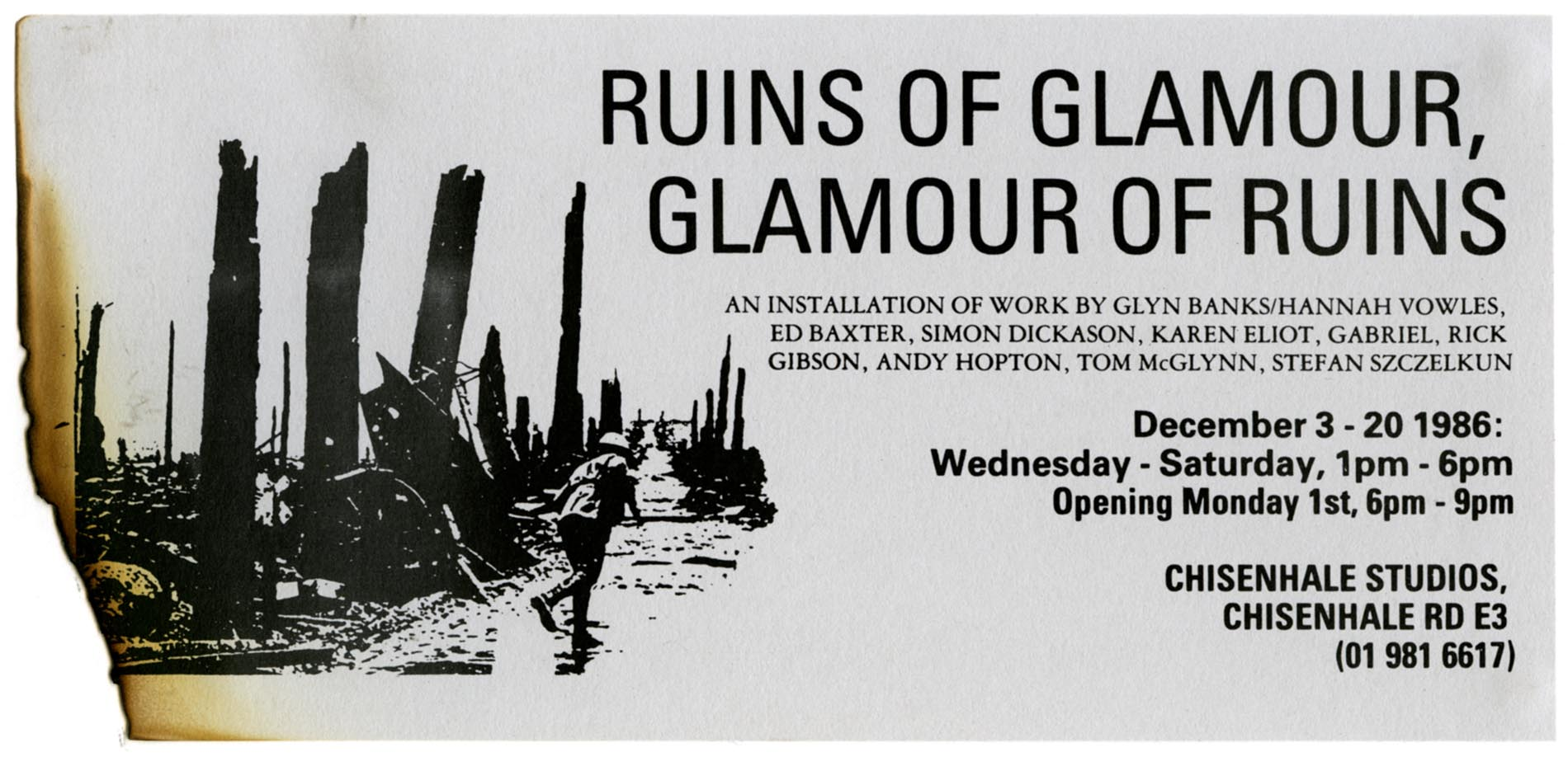 Ruins of Glamour, Glamour of Ruins - Invitation Card