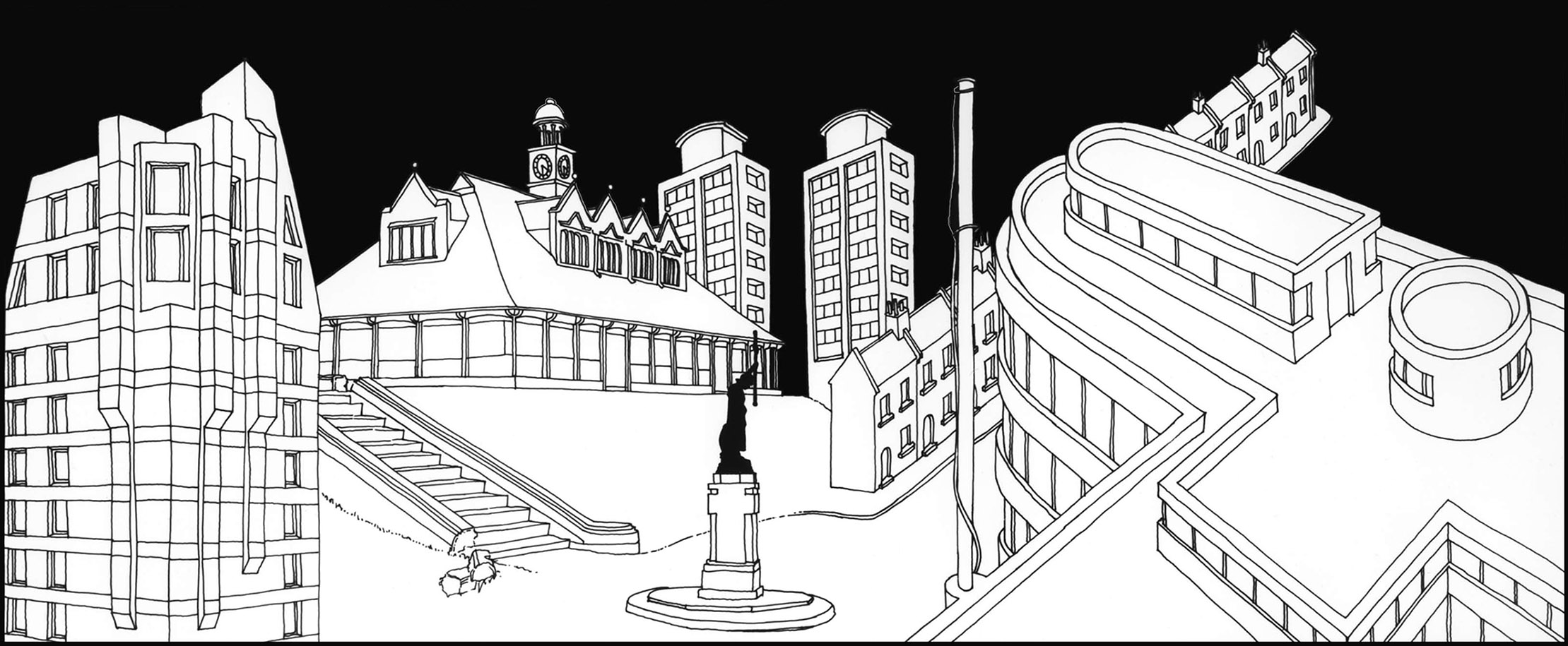 Drawing from Cities of the Dead: Try Another World Battersea Arts Centre, London 1984