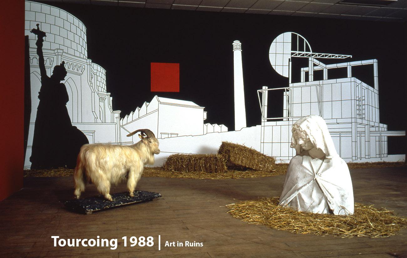 Vampire Value 'Des Emblems come Attitudes'  Ecole des Beaux Arts, Tourcoing, France  Art in Ruins 1988