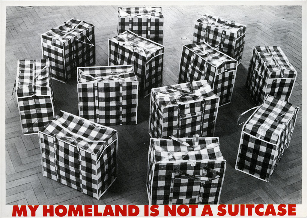 Art in Ruins. 'My Homeland is not a Suitcase' 1997 Postcard Bizarr Verlag Munich