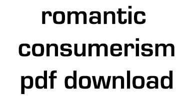 Romantic Consumerism Building Design No 962 November 17 1989 pdf download